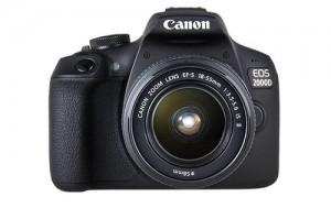Canon Fotocamera digitale EOS 2000d +18-55 Is Kit Wifi, 2 Batterie