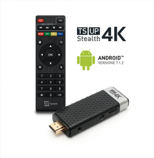 Smartbox Telesystem TS Up Stealth 4K Android Wi-Fi Nero