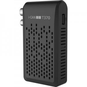 Adb Ricevitore digitale terrestre I-can T370 Hd Zapper Zapper T2 Hevc Usb Rec&play Telecomando Universale