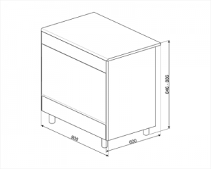 SMEG SX91SV9 Cucina Ventilata, Estetica Classica 90x60