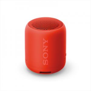 Sony SRS-XB12 Speaker Compatto Portatile Resistente all'Acqua con Extra Bass Rosso