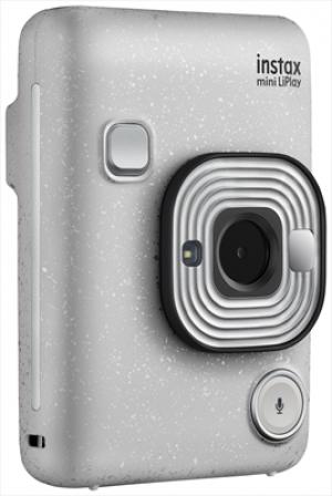 Fujifilm Instax Mini LiPlay Fotocamera Ibrida Istantanea e Digitale Stone White