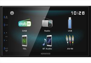 Kenwood DMX125DAB Ricevitore Multimediale per Auto Nero 84W Bluetooth