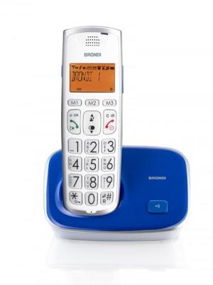 Brondi Bravo Gold Telefono Cordless Blu/Viola