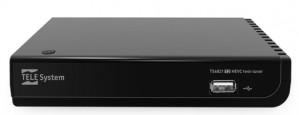 Telesystem Decoder con Doppio Tuner Digitale Terrestre Hd H.265 Videoregistratore e Media Player