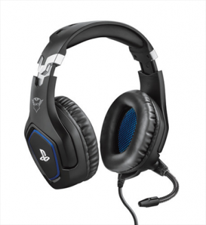Trust GXT 488 Forze PS4 Gaming Headset Potenti Cuffie Gaming Over-Ear con Microfono Ripiegabile e Archetto Regolabile