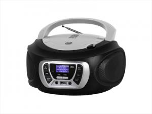 Trevi CMP 510 DAB Stereo Portatile Cd Boombox Radio DAB/DAB+ con RDS Usb Aux-In Presa Cuffia Nero