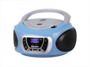 Trevi CMP 510 DAB Stereo Portatile Cd Boombox Radio DAB/DAB+ con RDS Usb Aux-In Presa Cuffia Turchese