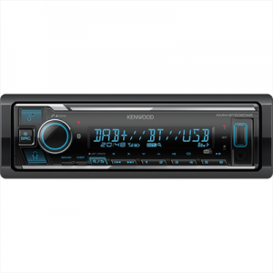 Kenwood KMM-BT506DAB Ricevitore Multimediale per Auto Nero 50W Bluetooth