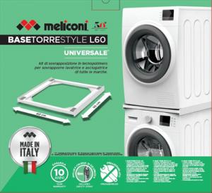 Meliconi Base Torre Style L60 per Sovrapposizione Lavatrice e Asciugatrice