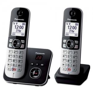 Panasonic KX-TG6862JTB Telefono Cordless DECT Doppio Ampio Schermo Bianco
