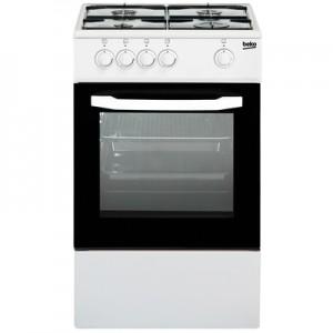 BEKOCucina a Gas CSG42001FW 4 Fuochi a Gas Forno Gas Dimensioni 50 x 50 cm Colore Bianco