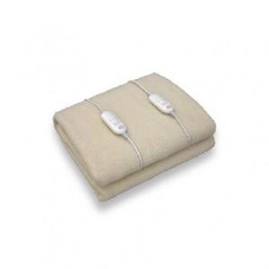DCGCoperta e Cuscino Elettrico Sintetico in Lana Bianco 120 W SE3154