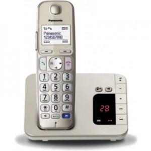 PANASONICKX-TGE220 Telefono Cordless Digitale con Segreteria Telefonica Champagne