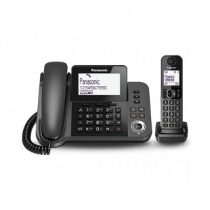 PANASONICKX-TGF320EXM 2in1 telefono fisso con ampio display e segreteria telefonica digitale + cordless con vivavoce