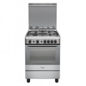 HOTPOINTH6GG1F X IT Cucina a Gas con Forno Gas con Grill Elettrico Dimensione 60 x 60 cm Colore inox