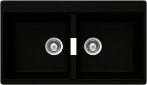 Lavello 2 vasche SCHOCK Horizont N200 A 84 HONN200A84 ( NERO PURO )