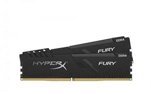 Memoria Ram Hyper x Fury HX424C15FB3K2/16 DIMM DDR4, Kit 16 GB 2400 MHz DDR4 CL15 1R x 8, Nero