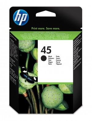 Cartuccia inchiostro nero 45 grande HP Originale 51645AE