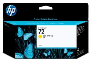 Cartuccia Inchiostro Giallo 72, 130 ml Originale HP C9373A