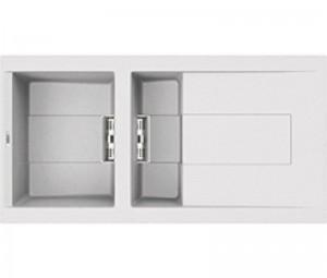 Lavello Smart 475 100x51,5 2 Vasche con Gocciolatoio Bianco 68 Elleci LGI47568SMT