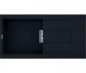 Lavello Smart 480 100x51,5 1 Vasca con Gocciolatoio Nero 40 Elleci LGI48040SMT