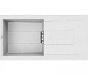 Lavello Smart 480 100x51,5 1 Vasca con Gocciolatoio Bianco 68 Elleci LGI48068SMT