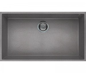 Lavello Quadra 130 76x44 1 Vasca Grigio Cemento 48 Sottotop Elleci LGQ13048BSO