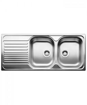 Lavello da Incasso 2 Vasche + Gocciolatoio Blanco TIPO 8 S Compact Vasca Dx 1324950