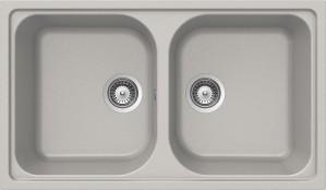 Lavello 2 vasche SCHOCK Lithos N200 A 04 LITN200A04N ( ALUMINIA )