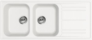 Lavello 2 Vasche + Gocciolatoio SMEG LZ116B