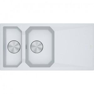 Lavello da Incasso 2 Vasche + Gocciolatoio Franke FXG 661 Bianco 114.0530.137