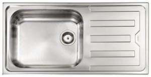Lavello da Incasso 1 Vasca + Gocciolatoio Reversibile Cristal Inox CM 010016 RCSSP