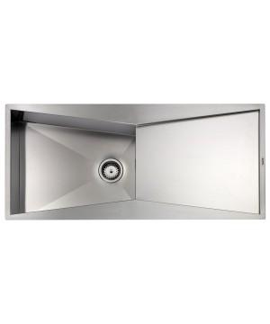 Lavello Acciaio Inox Satinato SPACE 3 116X50 1 Vasca Reversibile SLIM CM 012869 RCSSP