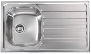 Lavello da Incasso 1 Vasca + Gocciolatoio Nihal Inox CM 010841 DCSSX