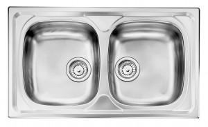 Lavello da Incasso 2 Vasche Nihal Inox CM 010842 XCSSX