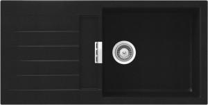 Lavello 1 vasca + gocciolatoio SCHOCK Signus D100L A 84 SIGD100LA84 ( NERO PURO )