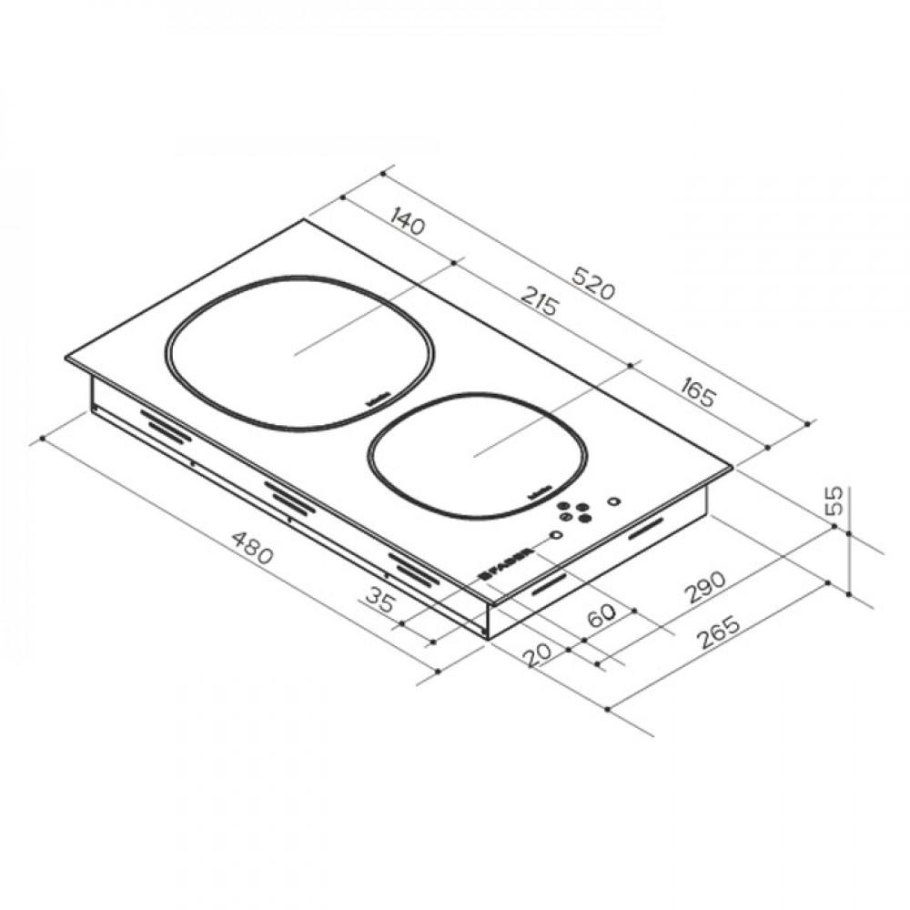 Piano Cottura da Incasso 2 Fuochi ad Induzione Faber 108.0456.297