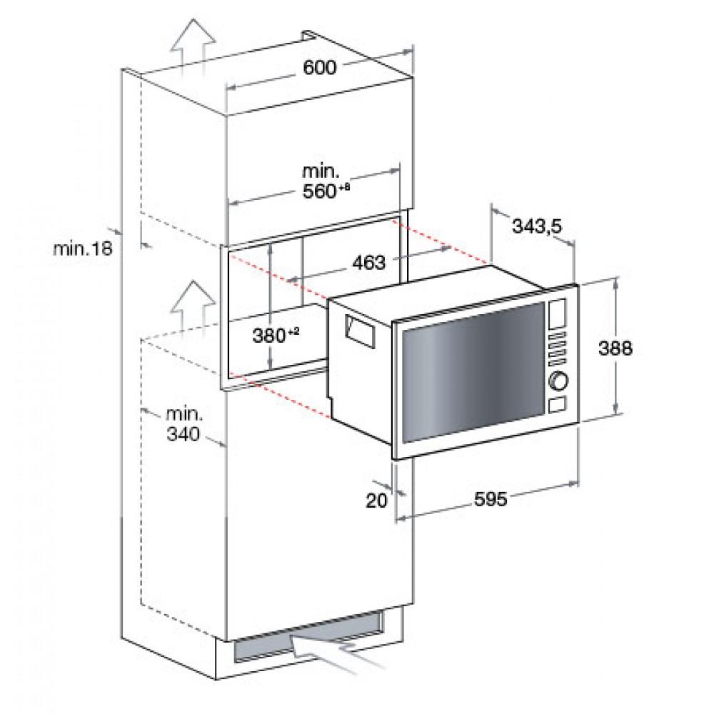 Forno microonde da incasso hotpoint ariston mwha122 1x - Forno microonde incasso ariston ...