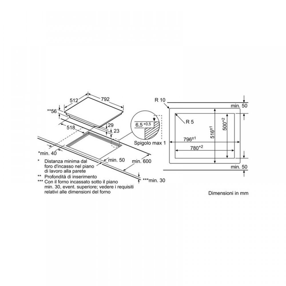 Piano Induzione Neff Flexinduction piano cottura ad incasso 4 fuochi induzione neff t68ps6rx0