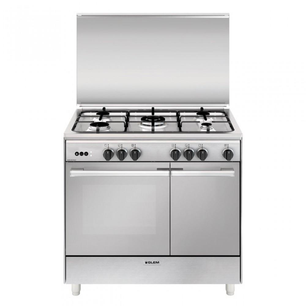 Glem gas cucina con forno gas grill elettrico ventola ur965vi - Ventola aspirazione cucina ...