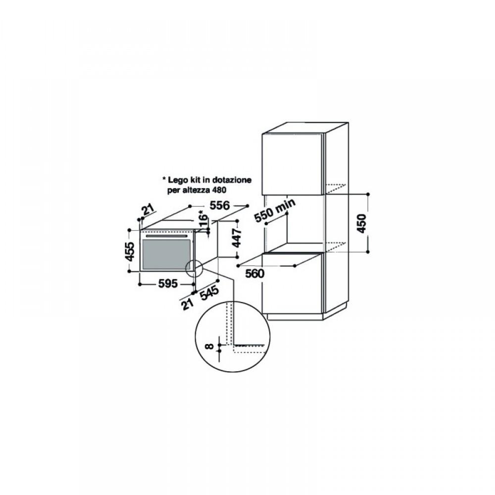 Forno a microonde da incasso whirlpool amw 831 ixl - Forno e microonde insieme whirlpool ...