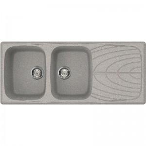 Lavello 2 Vasche + Gocciolatoio MASTER 500 Elleci LGM50055