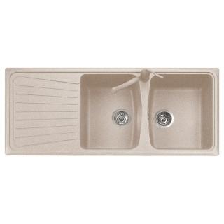 plados lavello  SP1162 Lavello 2 vasche + gocciolatoio Plados Serie Spazio 116-20 ...